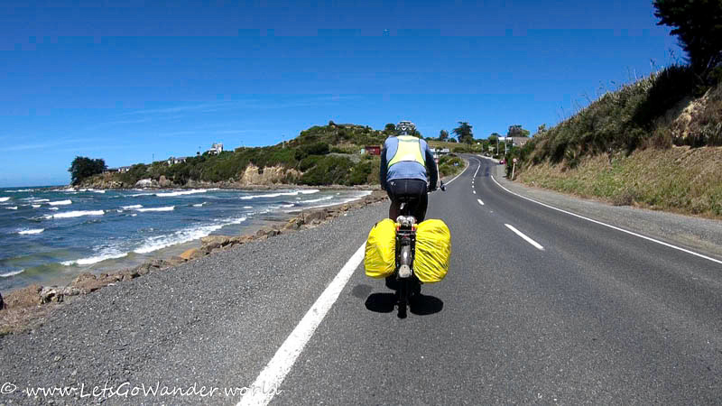 Riding into Kaka Point