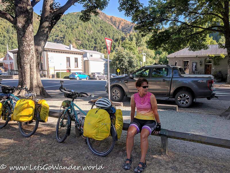 Taking a rest in Arrowtown
