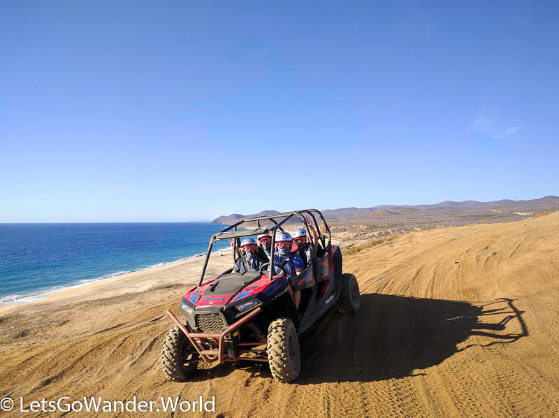 Dune buggying on Migriño Beach