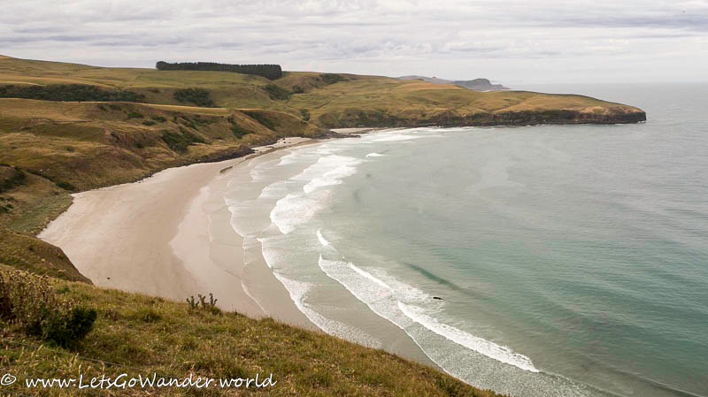 Remote beach on the Otago Peninsula