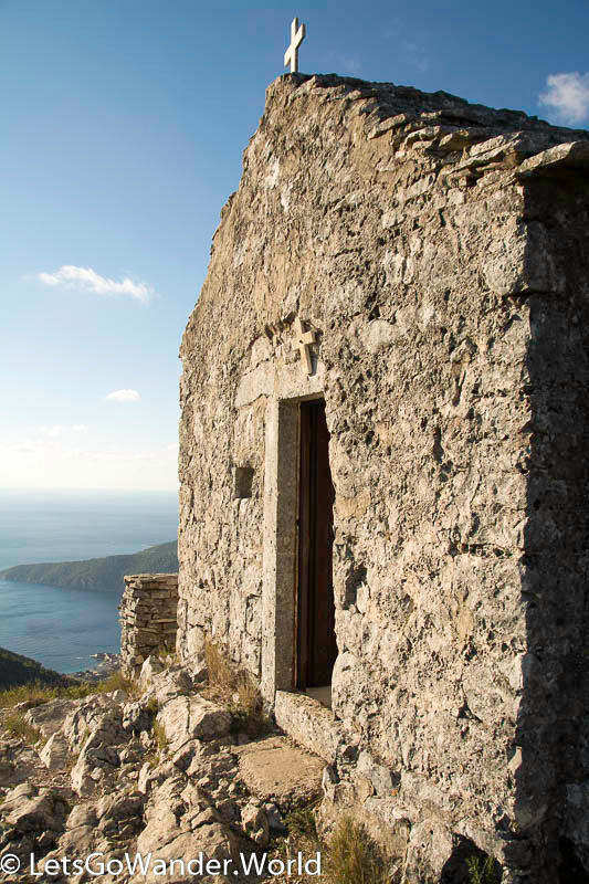 11th century church on highest point on Vis