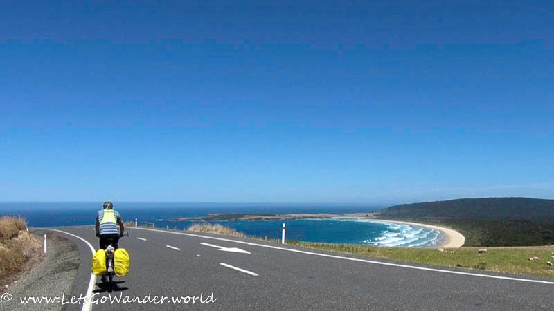 Spectacular view of Tautuku Beach